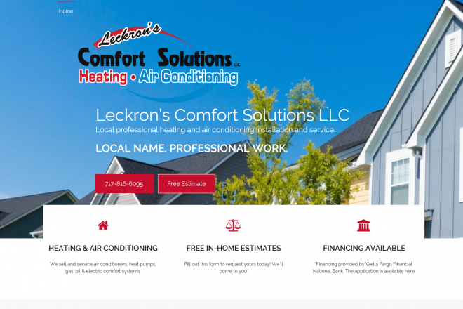 Leckron's Comfort Solutions LLC Website